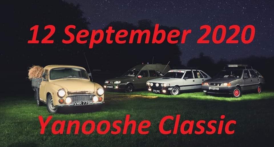 Yanooshe Classic Car Meet – Sunday 12th September 2020