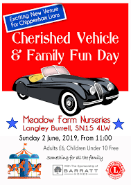 Chippenham Lions Cherished Vehicle & Family Fun Day – Sunday 10th April 2019